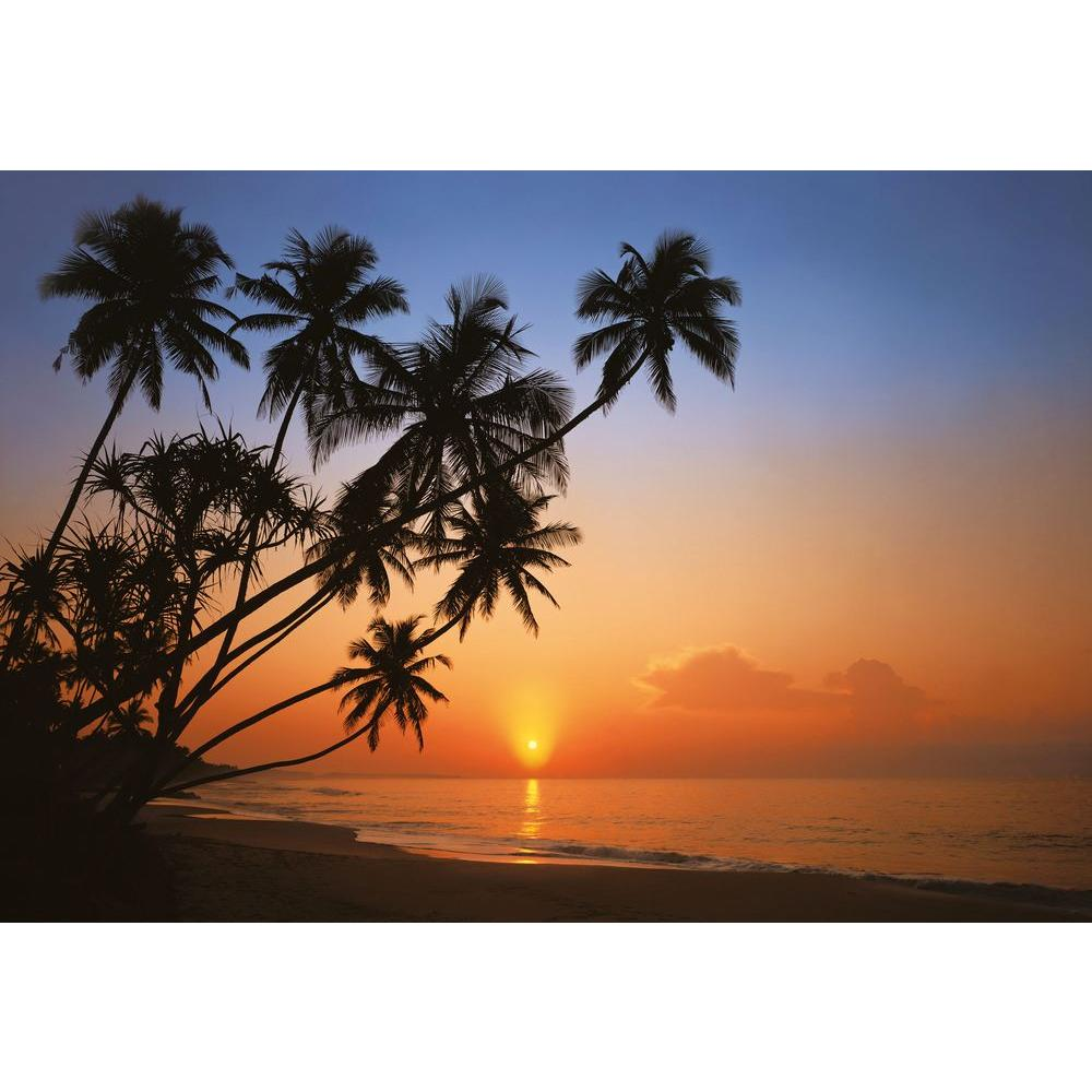 The Wallpaper Company 112.63 sq. ft. Mural Tropical Sunset Wallpaper