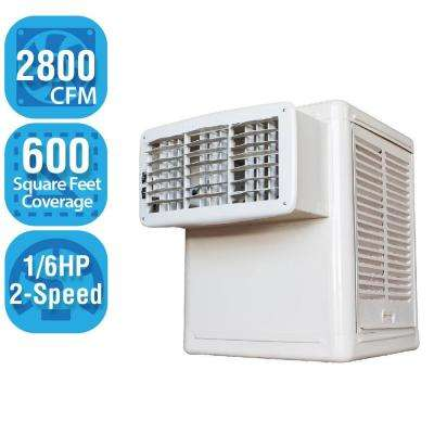 2,800 CFM 2-Speed Window Evaporative Cooler for 600 sq. ft. (1/6 HP Motor Included)