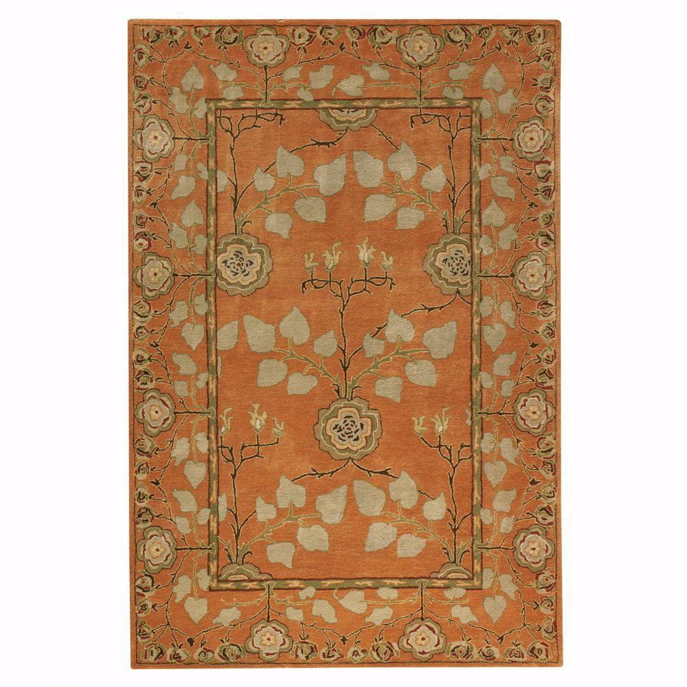 Home Decorators Collection Patrician Pumpkin 9 ft. 6 in. x 13 ft. 9 in. Area Rug