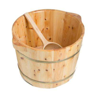 14.5 in. x 11 in. Wooden Foot Soaking Bucket