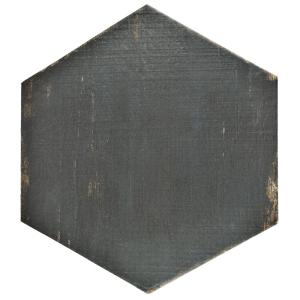 Retro Hex Negre 14-1/8 in. x 16-1/4 in. Porcelain Floor and Wall Tile (10.76 sq. ft. / case)
