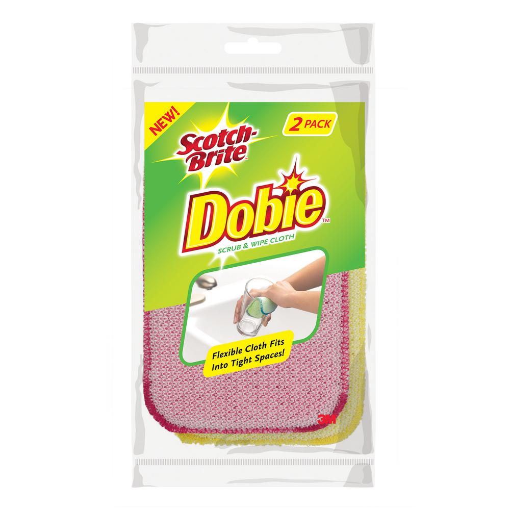 Scotch-Brite Dobie Scrub and Wipe Cloth (2-Pack)