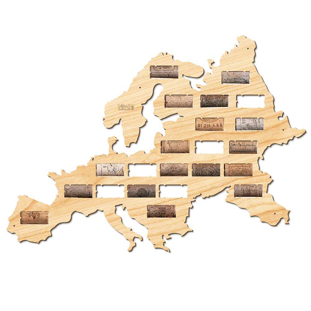 20.5 in. x 14.5 in. Europe Wine Cork Map