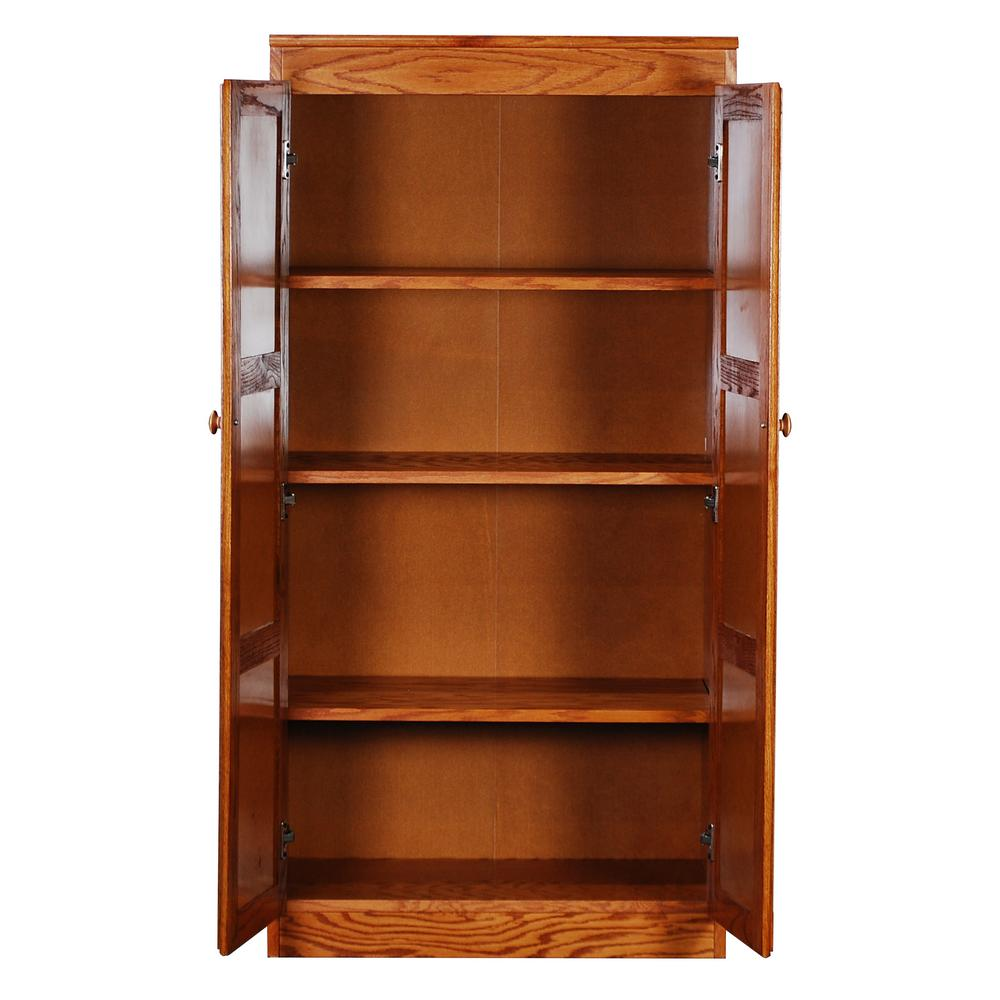 Concepts In Wood Multi Use Storage Pantry In Dry Oak Kt613a 3060 D The Home Depot