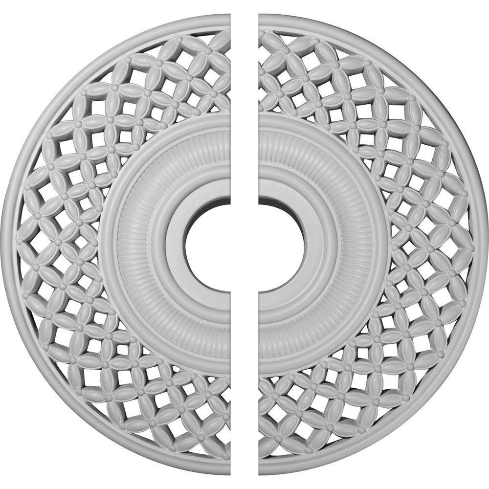 22-1/4 in. O.D. x 4-3/4 in. I.D. x 1-1/4 in. P Robin Ceiling Medallion (2-Piece)