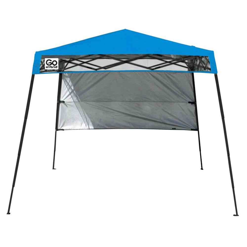 Quik Shade 6 ft  x 6 ft  Blue Go Hybrid Compact Backpack Canopy