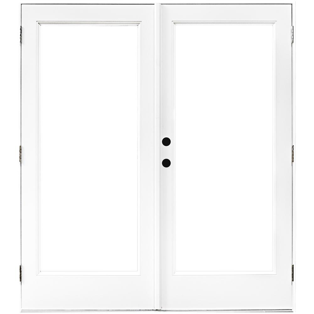 MP Doors 60 in. x 80 in. Fiberglass Smooth White Right-Hand Outswing Hinged Patio Door