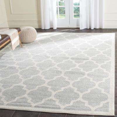 Kalec Light Gray/Beige 8 ft. x 10 ft. Indoor/Outdoor Area Rug