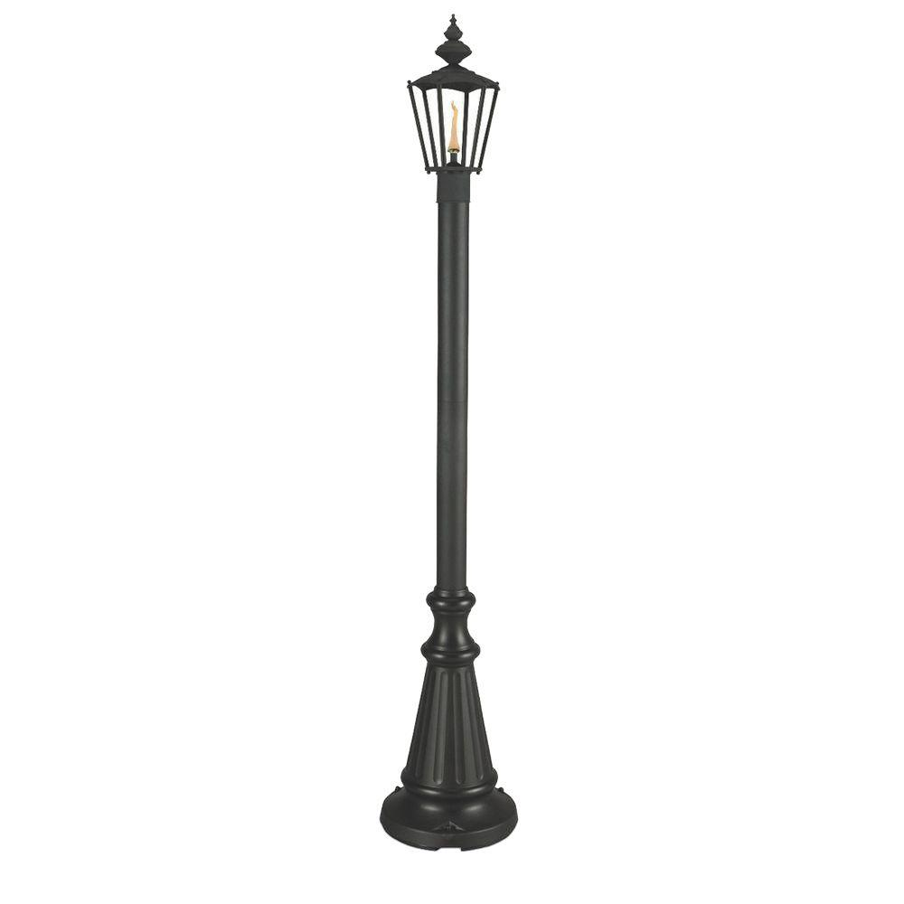 Patio Living Concepts 80 in. Islander Citronella Single Flame Outdoor Black Post Lantern