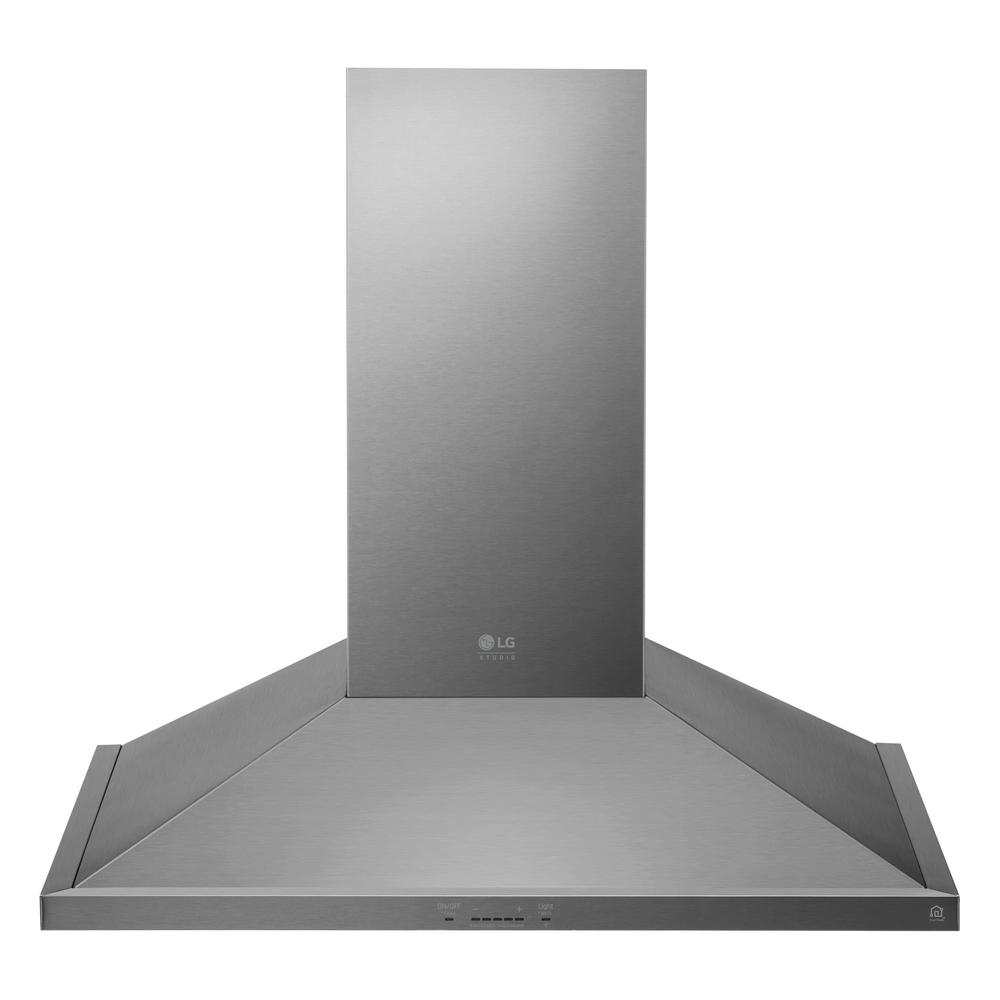 LG STUDIO 36 in. Smart Wall Mount Range Hood with Light and Wi-Fi Enabled in Stainless Steel, Silver was $1199.0 now $718.2 (40.0% off)
