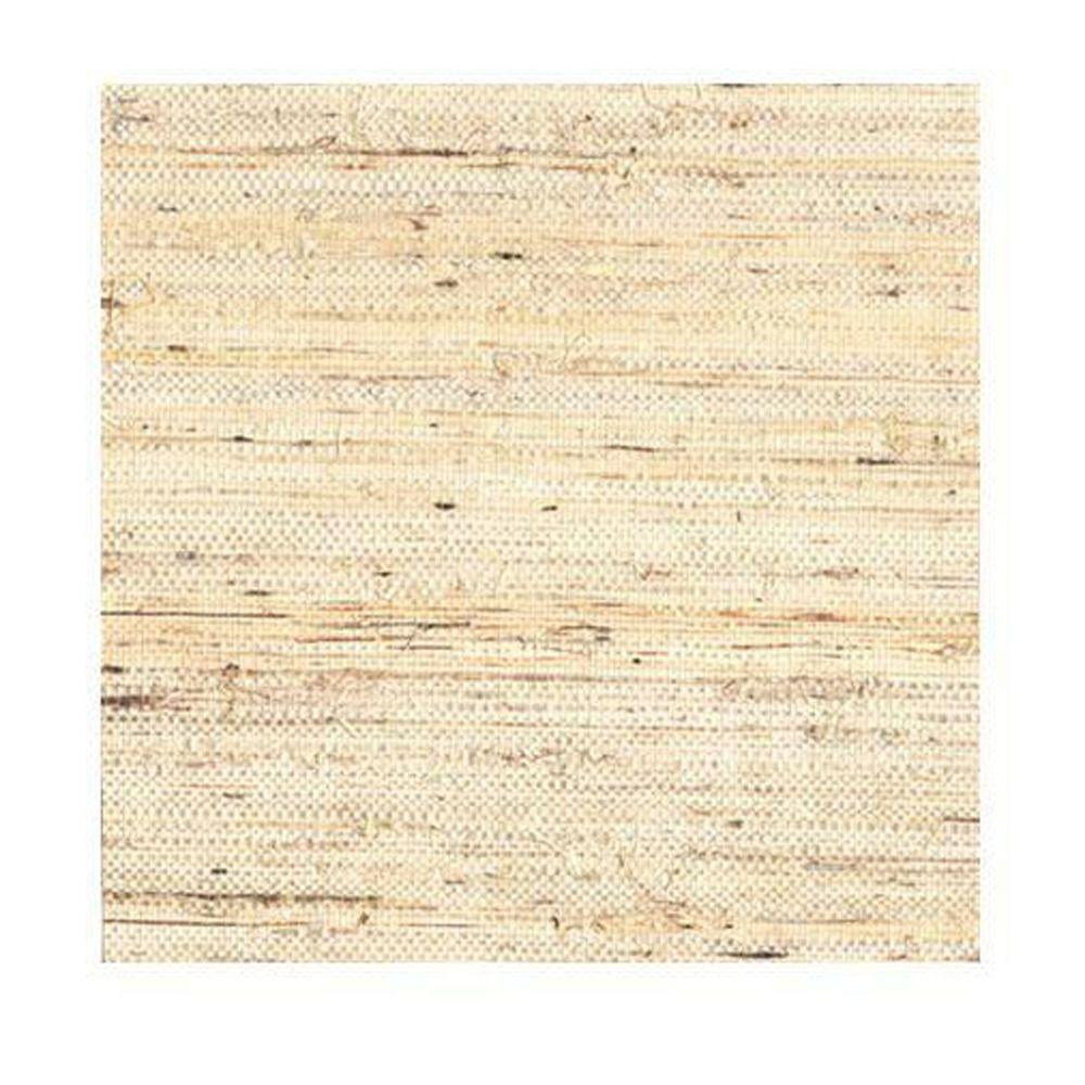 York Wallcoverings Taupe Grasscloth Strippable Non Woven: York Wallcoverings Jackie-Oh Wallpaper-RB4266