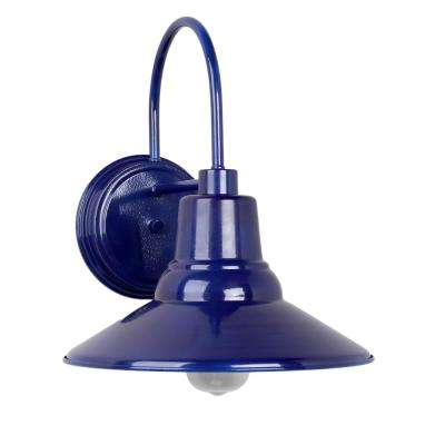 Shelby 1-Light Blue Outdoor Wall Mount Sconce