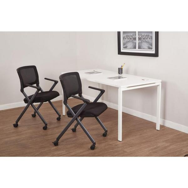 Office Star Products Black Folding Chair (Set of 2) FC8487-231