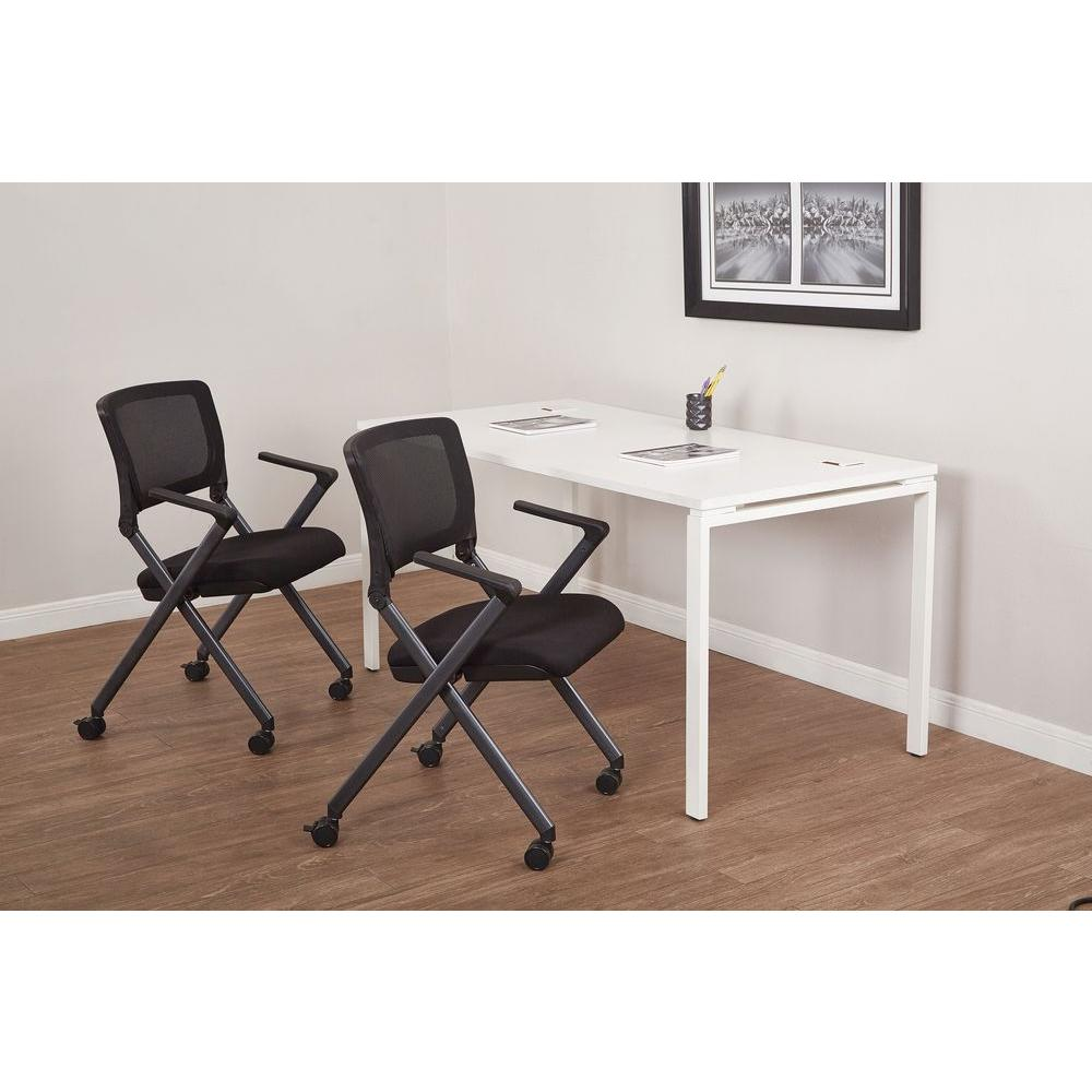 Work Smart Black Folding Chair (Set Of 2)