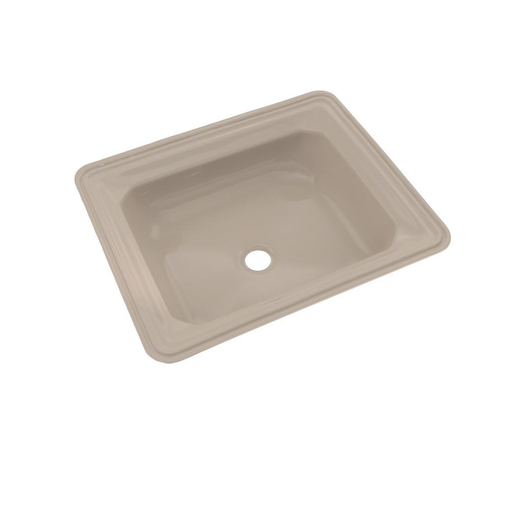Toto Guienevere 19 In Undermount Bathroom Sink With Cefiontect In Bone Lt973g 03 The Home Depot