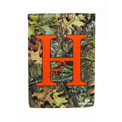 Mossy Oak 2-1/2 ft. x 3-2/3 ft. Monogrammed H 2-Sided Sublimated House Flag