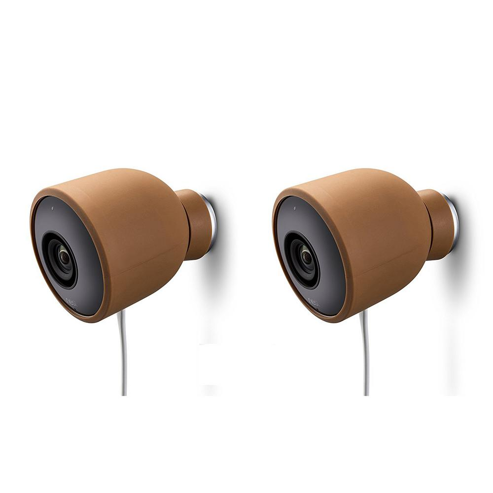 Remarkable Wasserstein Colorful Silicone Skins For Nest Cam Outdoor Security Camera In Brown 2 Pack Interior Design Ideas Jittwwsoteloinfo