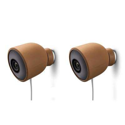 Colorful Silicone Skins for Nest Cam Outdoor Security Camera in Brown (2-Pack)