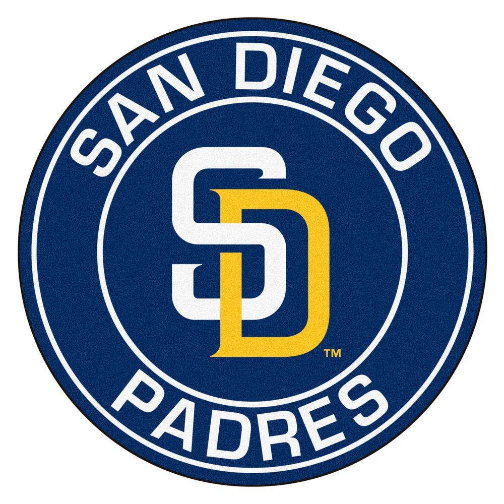 Fanmats Mlb San Diego Padres Navy 2 Ft X 2 Ft Round Area