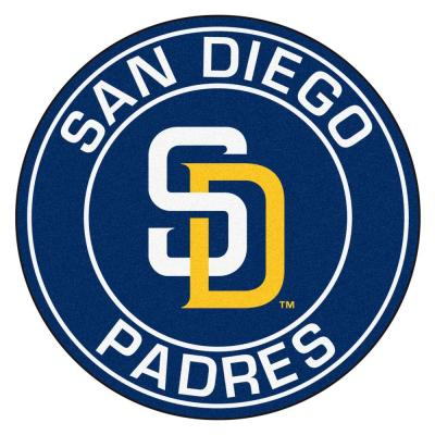 MLB San Diego Padres Navy 2 ft. x 2 ft. Round Area Rug