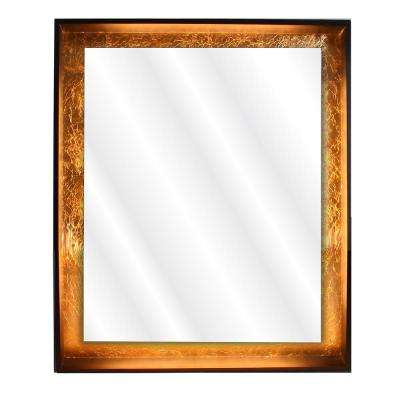 Apollo 30 in. x 36 in. Framed LED Wall Mounted Backlit Vanity Bathroom Mirror with Touch On/Off Dimmer