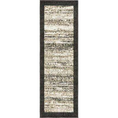Indoor/Outdoor Milwaukee Black 2' 0 x 6' 0 Runner Rug