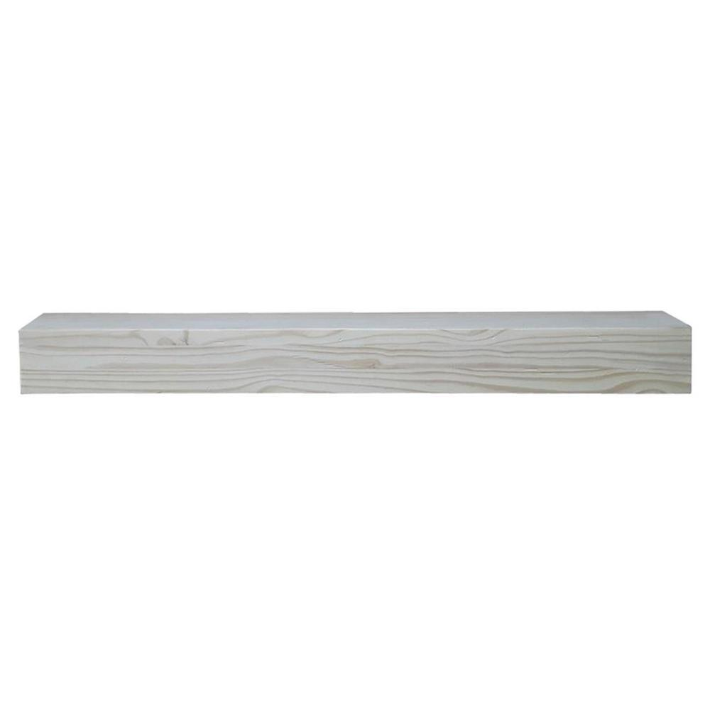 white fireplace mantel shelf. Unfinished Distressed Cap Shelf Mantel with Side Storage Drawers White  Fireplace Shelves Mantels The Home Depot