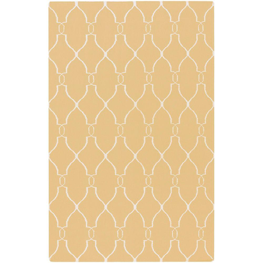Surya Jill Rosenwald Yellow 2 ft. x 3 ft. Flatweave Accent Rug