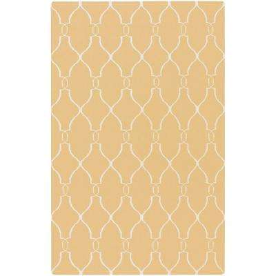Jill Rosenwald Yellow 8 ft. x 11 ft. Flatweave Area Rug