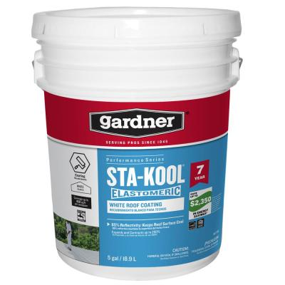 Henry 887 Tropicool 0 90 Gal White 100 Silicone Reflective Roof Coating He887hs142 The Home Depot