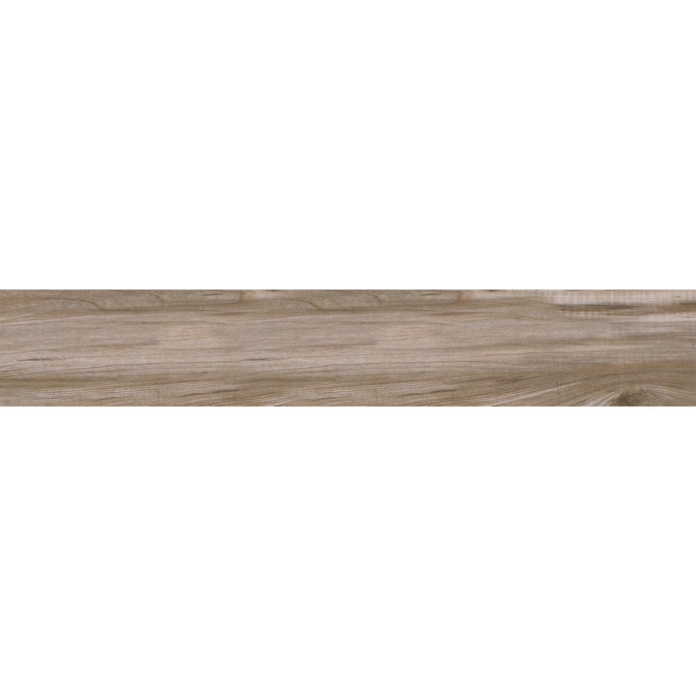 Carolina Timber Beige 6 in. x 36 in. Glazed Ceramic Floor