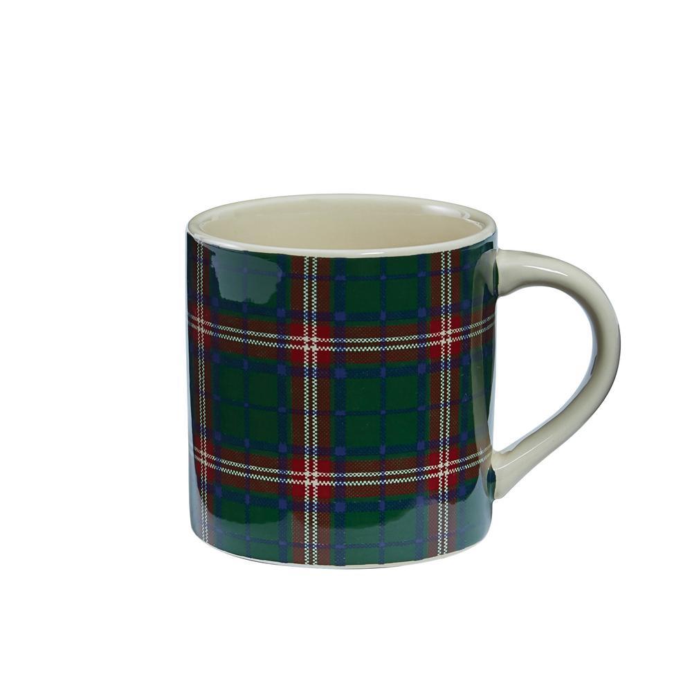 Highland Plaid 16 oz. Coffee Mug (Set of 4)