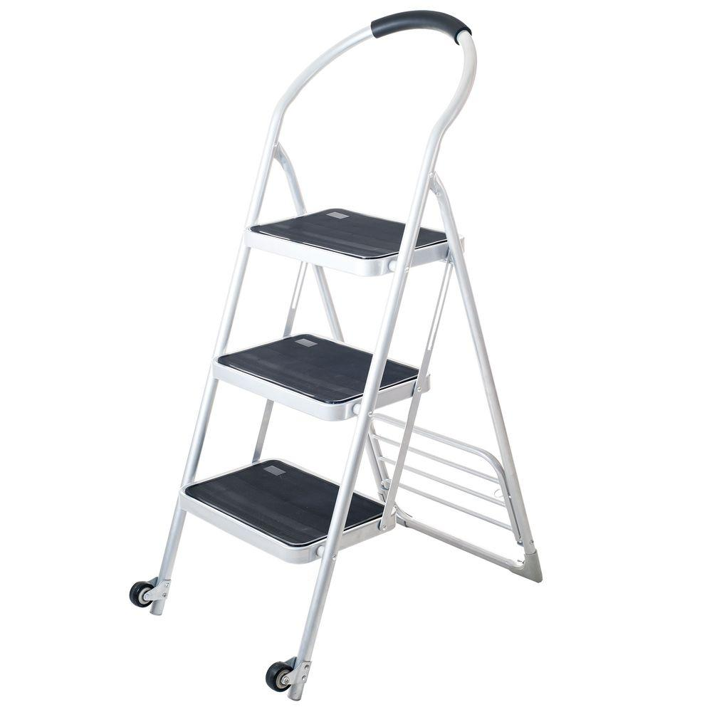 Step Ladder Folding Cart Dolly in White 75 0001 W   The Home Depot. Stalwart 175 lbs  Step Ladder Folding Cart Dolly in White 75 0001