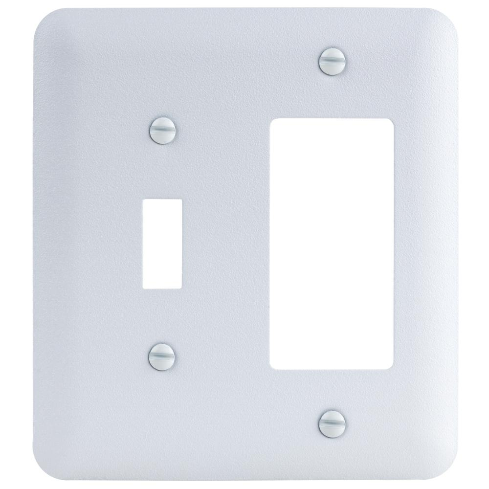 Electrical Wall Plates Commercial Electric 2Gang Toggledecorator Maxi Metal Wall Plate