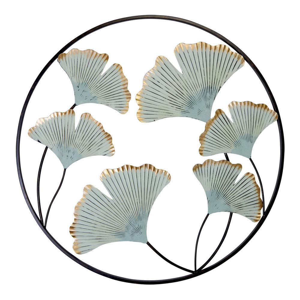 Gingko Flower Medallion Metal Wall Decor