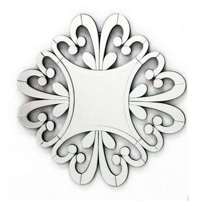 33 in. x 33 in. The Versailles Home Decor Starburst Wall Mirror for Interior