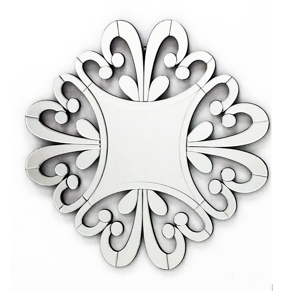 33 in. x 33 in. The Versailles Home Decor Starburst Wall