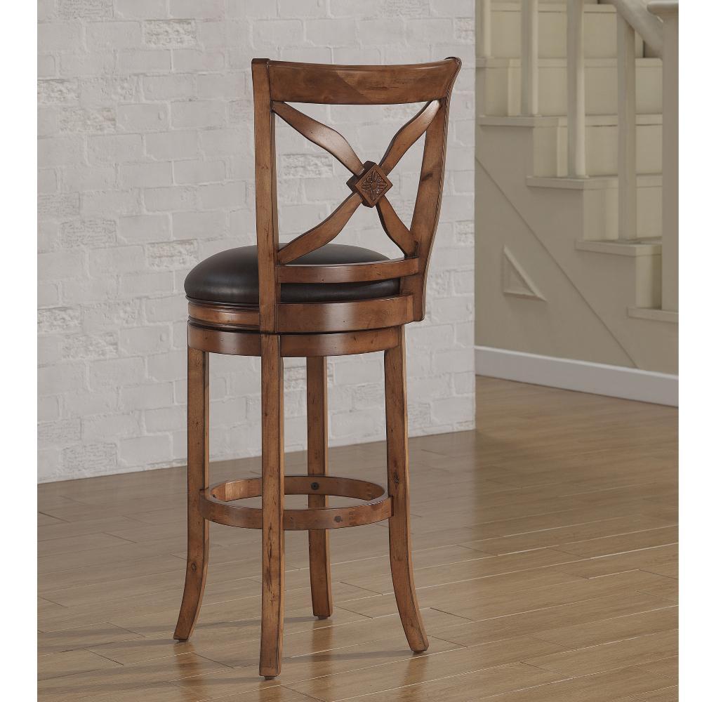 Internet 302716390 4 American Woodcrafters Provence 30 In Light Oak Swivel Bar Stool