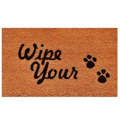 Wipe Your Paws Door Mat 17 in. x 29 in.