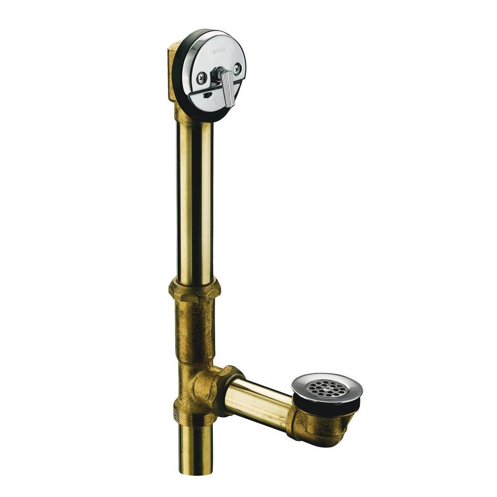 Adjustable Trip Lever Drain In Polished Chrome