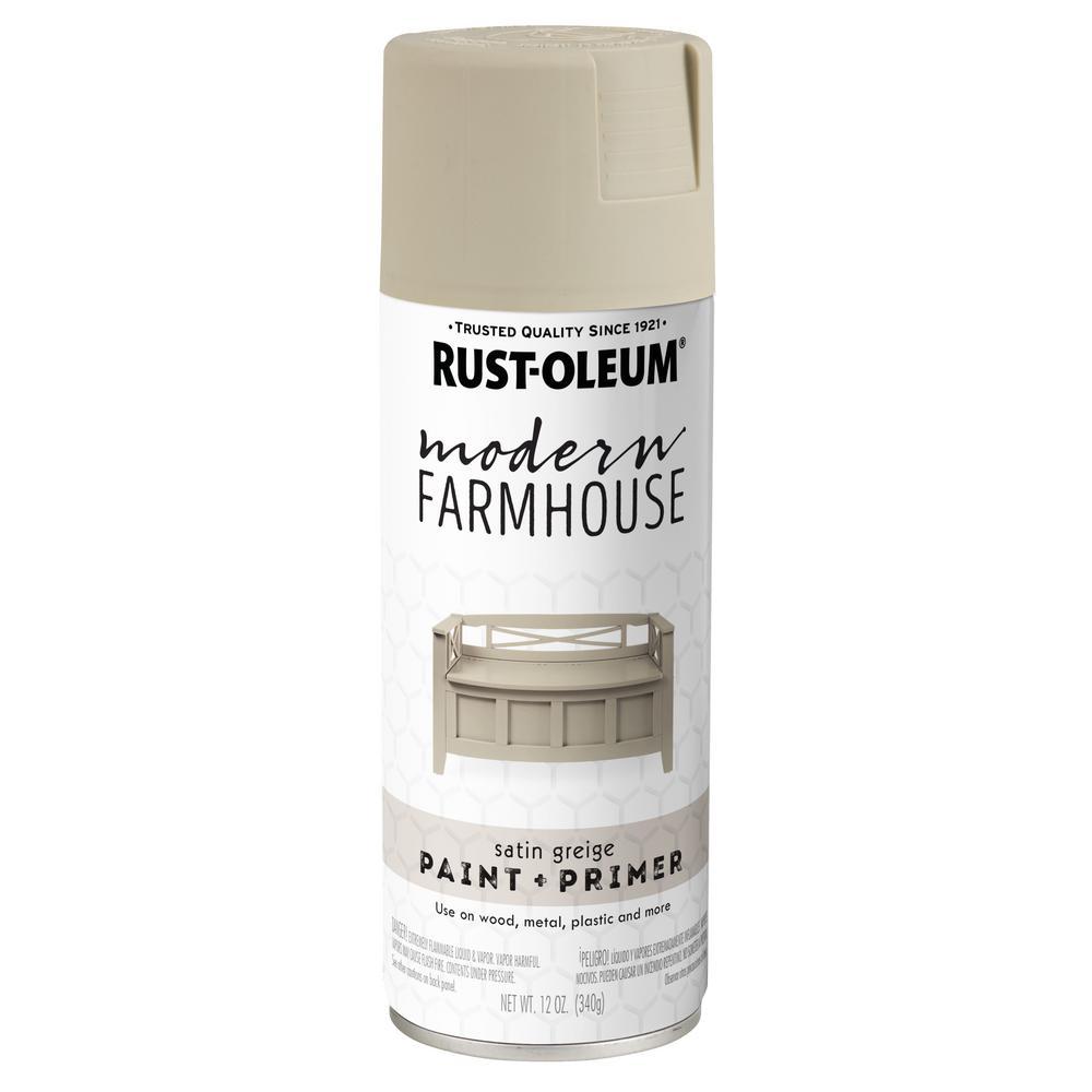 Rust-Oleum Modern Farmhouse 12 oz. Satin Greige Spray Paint (6 Pack)