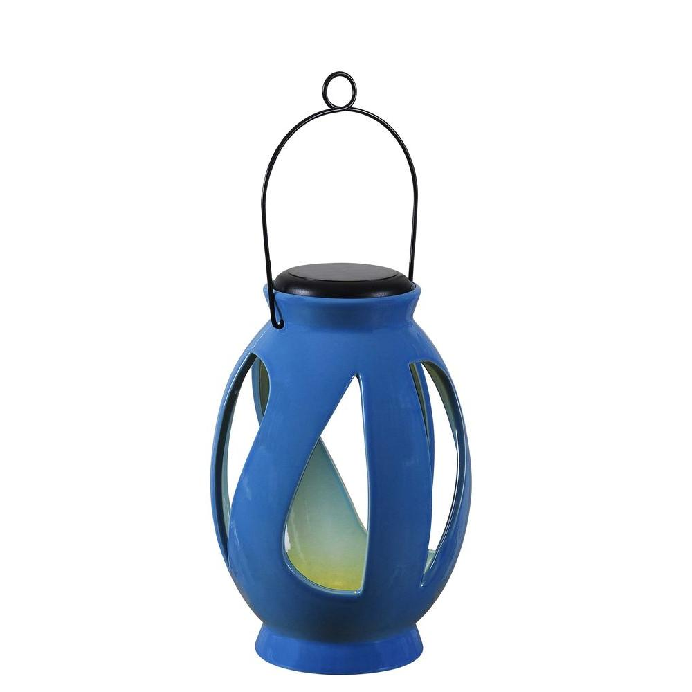 Leaves 10 in. LED Solar Lantern
