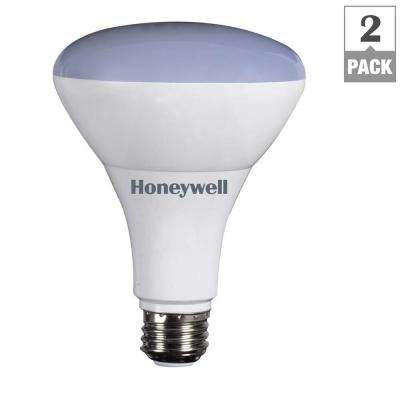 65W Equivalent Warm White BR30 Dimmable Led Light Bulb (2 Pack)