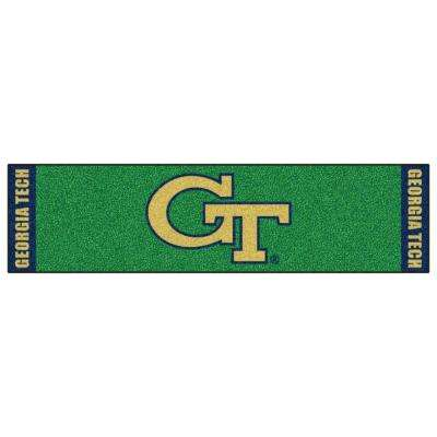 NCAA Georgia Tech 1 ft. 6 in. x 6 ft. Indoor 1-Hole Golf Practice Putting Green