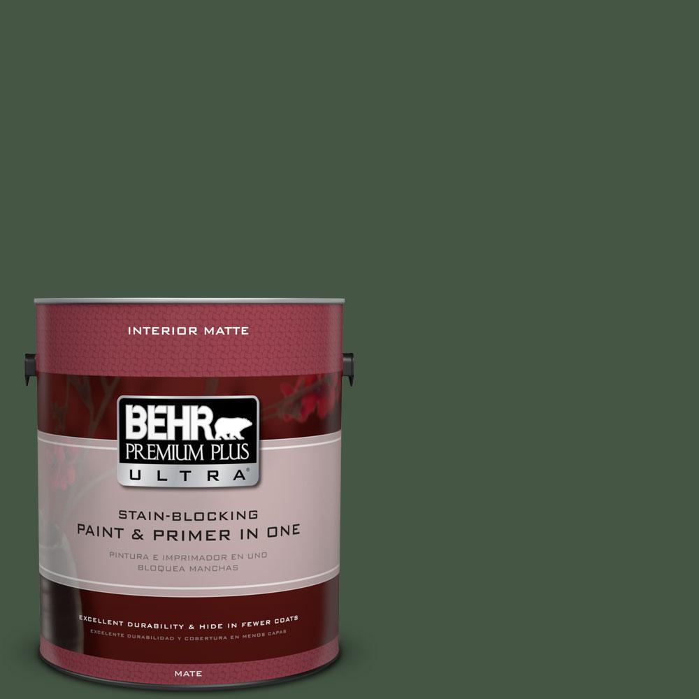 1 gal. #ECC-11-3 Whispering Oaks Flat/Matte Interior Paint