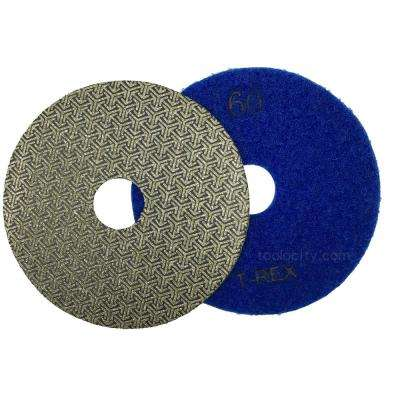 4 in. 60-Grit Electroplated Diamond Polishing Pads