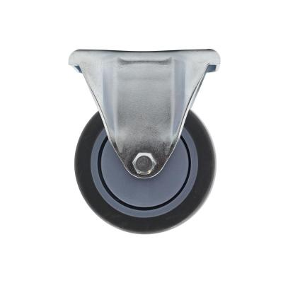 4 in. Medium Duty Gray TPR Rigid Caster with 250 lbs. Weight Capacity