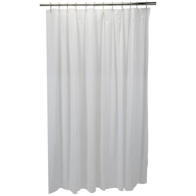 Croydex Shower Curtain Drip Guard Clip In White Minimizes Water