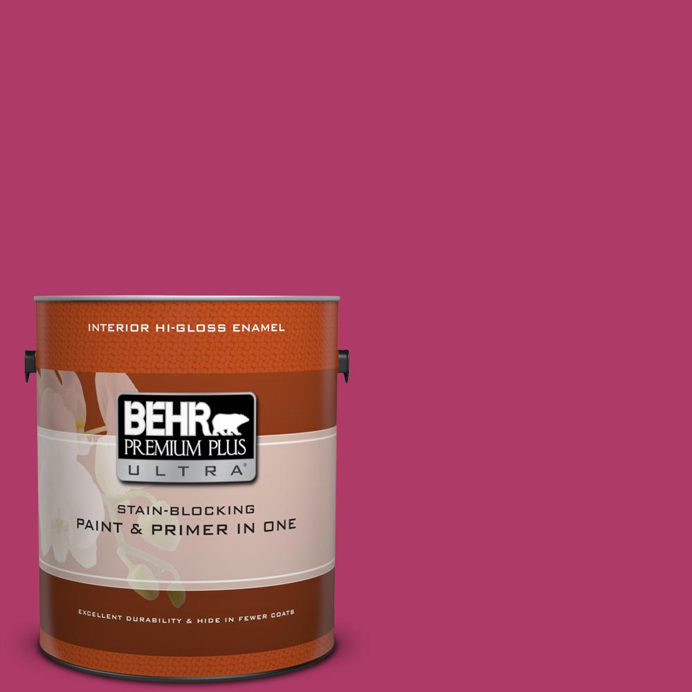 1 gal. #HDC-SM16-04 Bing Cherry Pie Hi-Gloss Enamel Interior Paint