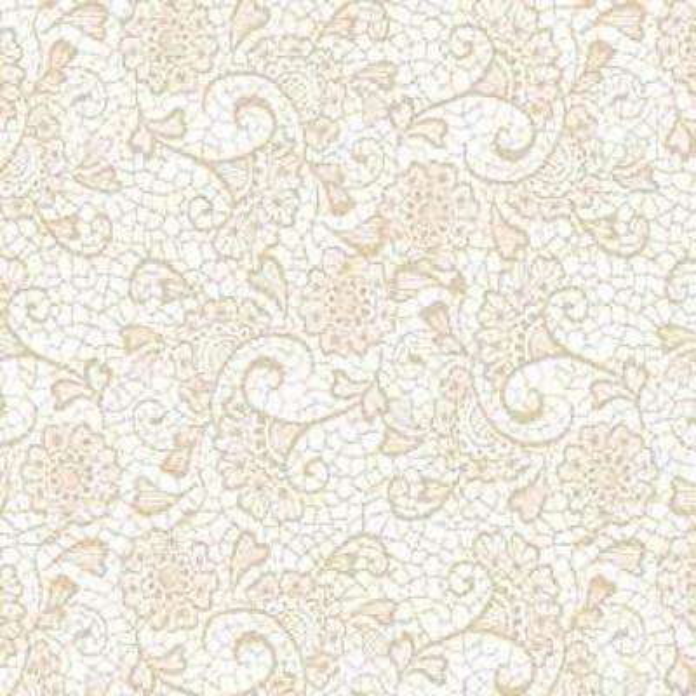 Grip Prints Monaco Sand Floral Shelf and Drawer Liner (Set of 6)